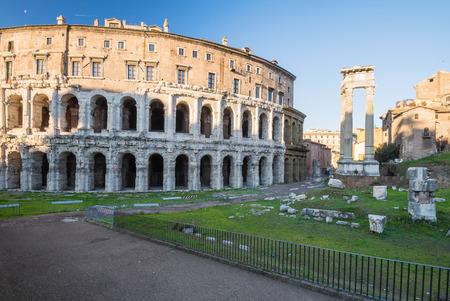Teatro Marcello and Portico dOttavia, Jewish Ghetto, Rome, Italy