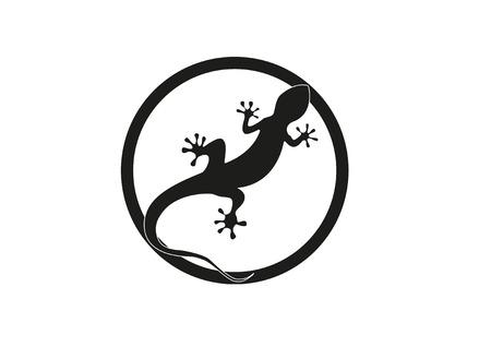 Gecko Vektor-Illustration auf einem weißen Hintergrund isoliert Standard-Bild - 76564778