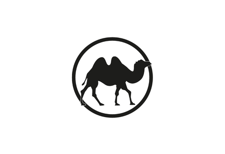 Kamel minimal Vektor-Illustration Standard-Bild - 76711451