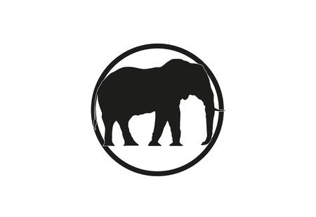 Elefanten minimal Vektor-Illustration Standard-Bild - 76711452