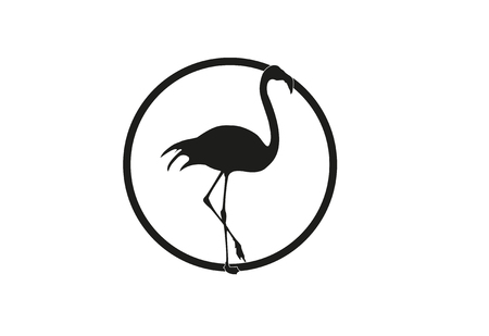 Flamingo Vektor-Illustration Piktogramm Standard-Bild - 76712230