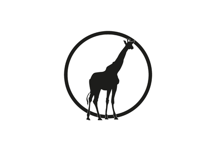 Giraffe Vektor-Illustration Piktogramm Standard-Bild - 76712232