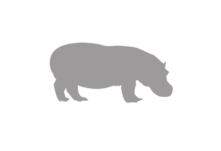 Hippopotamus Vektor-Illustration Piktogramm Standard-Bild - 76712237