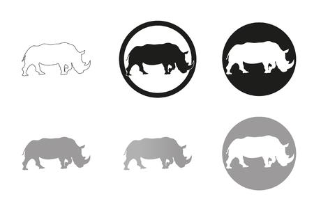 Nashorn Vektor-Illustration Piktogramm Standard-Bild - 76712226