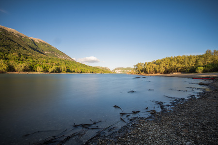 Barrea See, Nationalpark Abruzzen, Italien Standard-Bild - 78416036