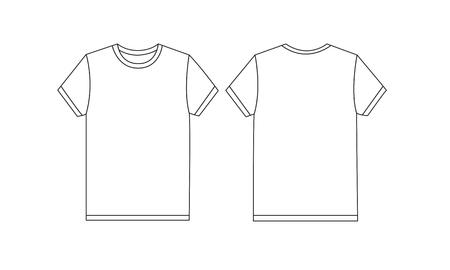 Weißes T-Shirt Schablonenmodell Standard-Bild - 78508567