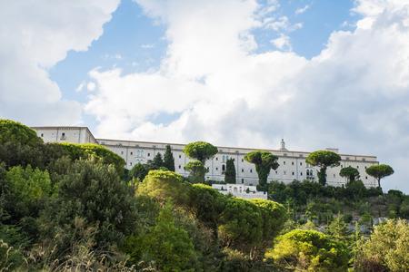 Montecassino Abbey, Cassino, Ciociaria, Italien Standard-Bild - 84192326