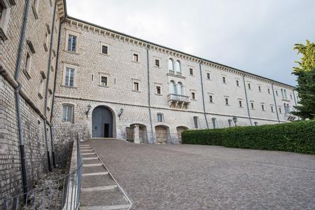 Montecassino Abtei, Ciociaria, Italien Standard-Bild - 84192359
