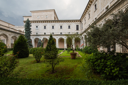 Montecassino Abtei, Ciociaria, Italien Standard-Bild - 84152338