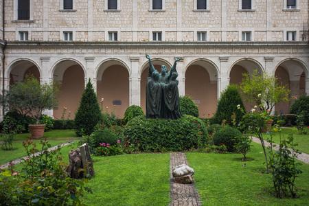 Montecassino Abtei, Ciociaria, Italien Standard-Bild - 84302433