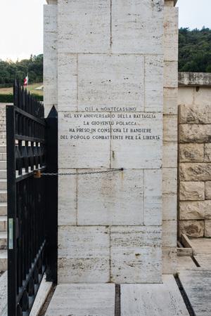 Polnischer Friedhof in Montecassino, Italien Standard-Bild - 84305823