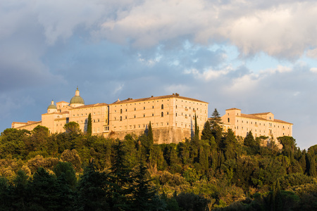 Montecassino Abtei, Ciociaria, Italien Standard-Bild - 84156666
