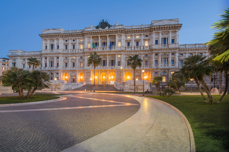 Cassation Palace at Piazza Cavour, Rome, Italy Standard-Bild - 104401179