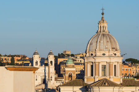 Trinity of the Mountains in a panoramic view, Rome, Italy Standard-Bild - 95943256
