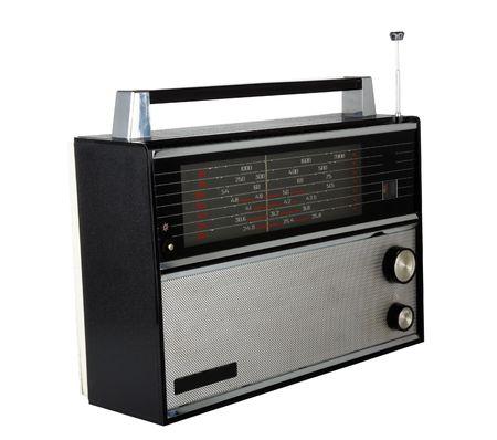 radio retr�: Un set di radio retr�, 20 o 30 anni. Isolato.  Archivio Fotografico