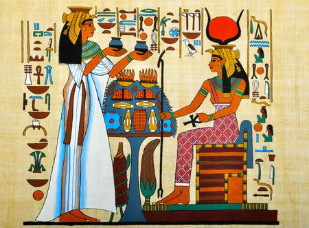Papyrus with elements of egyptian ancient history Stock Photo - 6079528