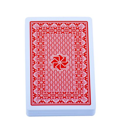 back packs: The back of pack of playing card. Isolated on white background