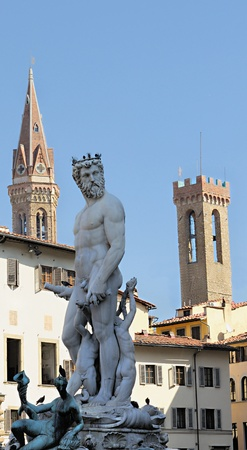 signoria square: The Fountain of Neptune is a fountain in Florence, Italy, situated on the Piazza della Signoria (Signoria square), in front of the Palazzo Vecchio.