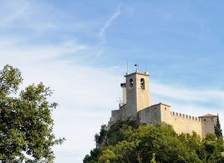 San Marino Castle. The Most Serene Republic of San Marino is a country in the Apennines. Stock Photo - 11690615