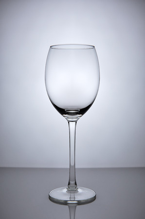 crystal glass: Empty wine glass goblet on white background Stock Photo