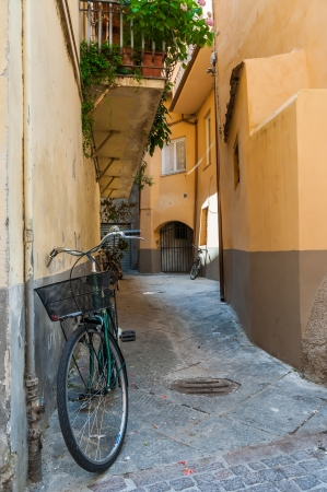 Bike a Tuscany street  photo