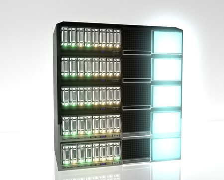 Hébergement avec Redundant Array Inexpensive Disks Banque d'images - 27585569