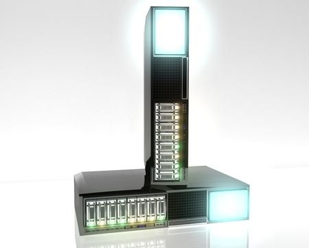 Serveur avec Redundant Array Inexpensive Disks Banque d'images - 27585570