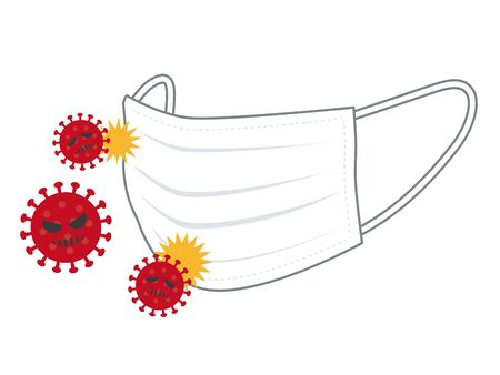 Prevent virus infection with mask Illustration