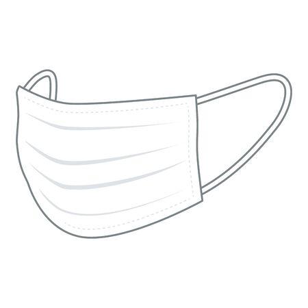 Mascara facial Ilustración de vector