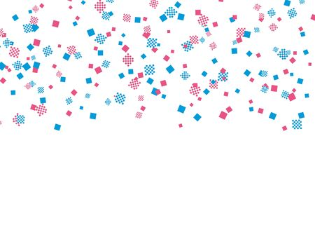 Light blue and pink checkered pattern confetti
