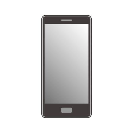 Smartphone with contour line illustration single simple monochrome