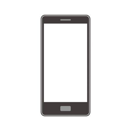 Smartphone with contour line illustration single simple monochrome Banque d'images - 140397594