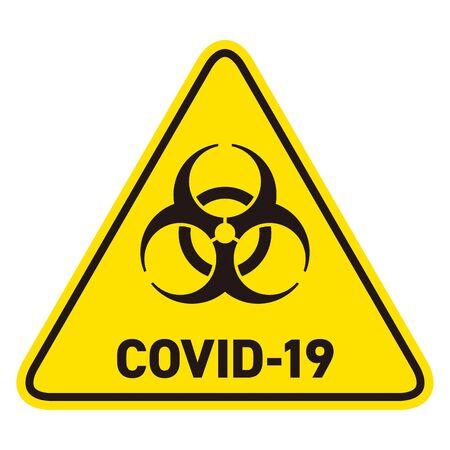 Biohazard Mark Warning Coronavirus