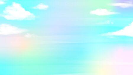 Fancy iridescent blue sky background illustration