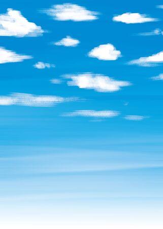 Acrylic blur background illustration of blue sky