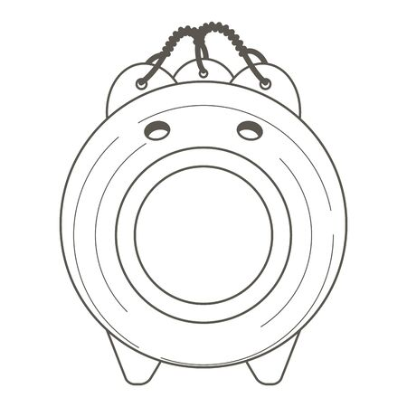 Mosquito pig front vector illustration Ilustrace