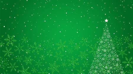 Snowflake Christmas Tree and Background