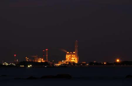 nightscene: Night-scene of industrial plant in Map-ta-put real estate Stock Photo