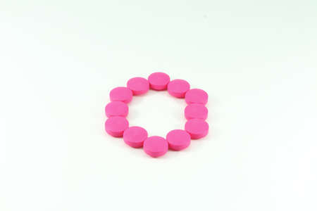 benzine: Pink pills lay as benzine ring