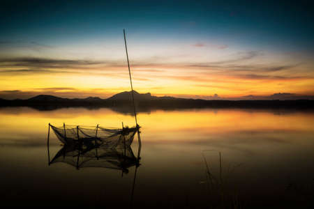 placid water: Twilight at the lake