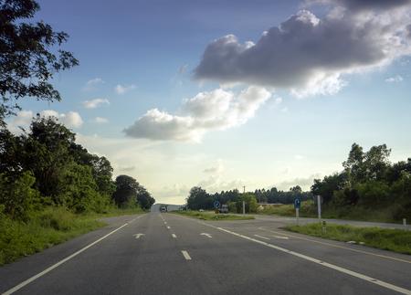 Country road, Route 331 U-ta-pao airport to Korat, Thailand