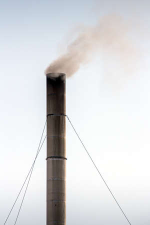 moke release from the steel smokestack