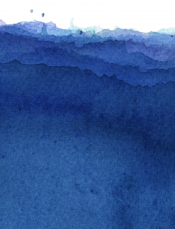 blue watercolor: hand painted abstract gradation with watercolor