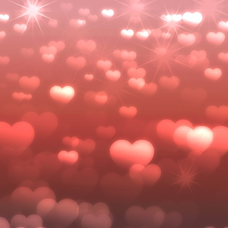 abstract background with hearts photo