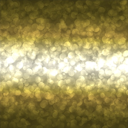 spangle: abstract background with golden lights Stock Photo
