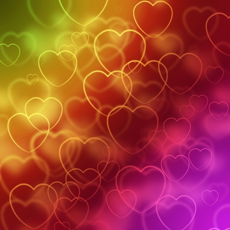 spangle: abstract background with hearts
