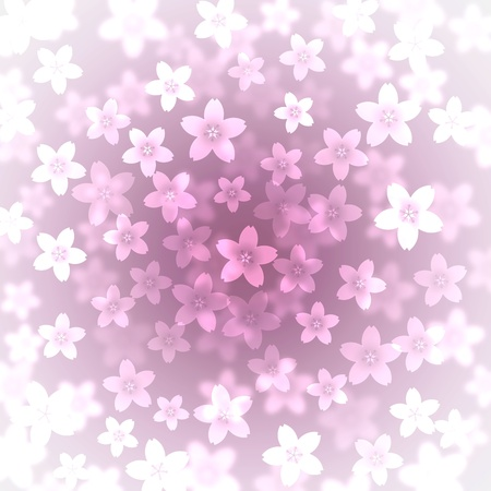 Abstract cherry blossom background illustration Stock Illustration - 8866032