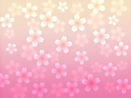 Abstract cherry blossom background illustration illustration