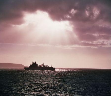 morning shot of navy ship Stock Photo - 442846