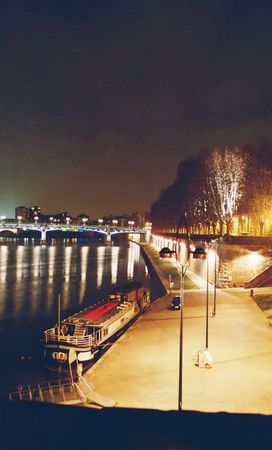 pierre: Quai of Pont ST Pierre, Toulouse, France by night